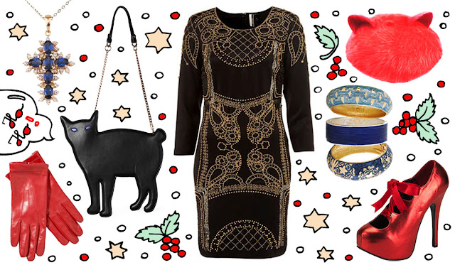 cat handbag, christmas, outfit, bordello