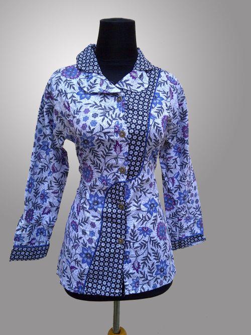 Batik Semarang Repackage Model Baju Batik Kerja Wanita Modern
