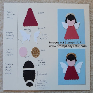 Pennant Punch - Punch Art Angel Recipe Card
