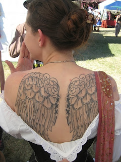 Cute and Beautiful Angel Wing Tattoos for Women