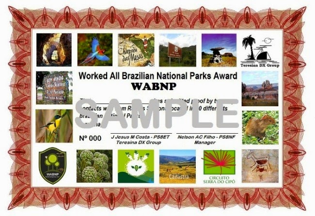 WABNP - Worked All Brazilian National Parks Award  # TheDXg