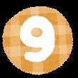 数字 0 イラスト文字