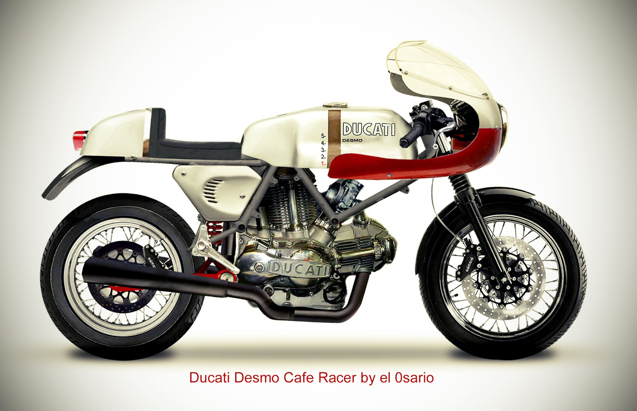 Cafe Racer Moto Guzzi Poster