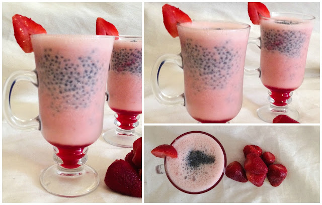 Strawberry Basil Lassi / Sweet Lassi