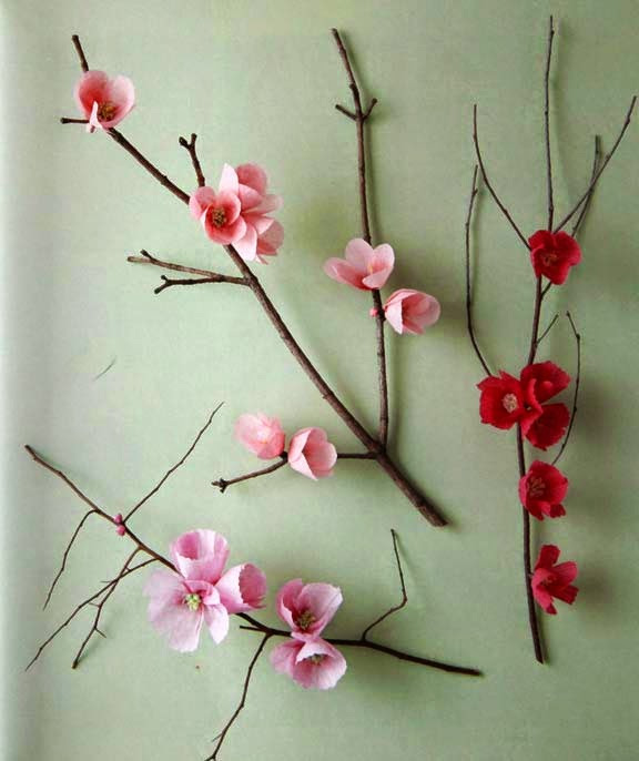 Arent These Flowers Amazing They Look So Real Here Is The Step By How To Make Cherry Blossoms Above