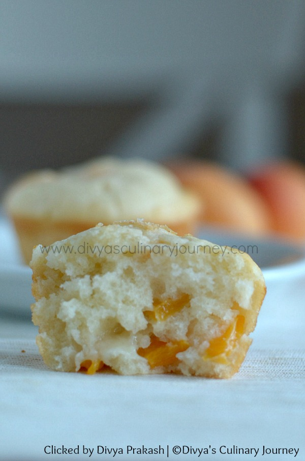 Muffins with fresh apricots, egg free muffin recipe