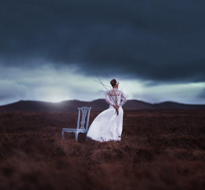 Foto model konseptual dalam fotografi model