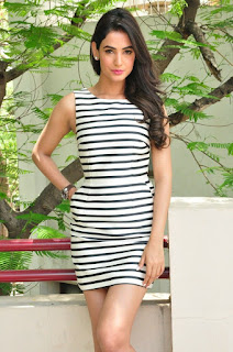 Actress Sonal Chauhan  Pictures in Short Dress at Pandaga Chesko Interview  0084.jpg