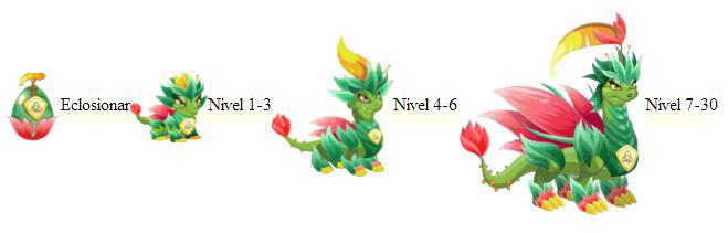 imagen del crecimiento del dragon natura