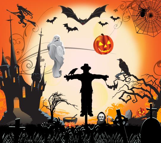Jack o Lantern Happy Halloween Night : Um pouco da - Dia De Halloween 2017