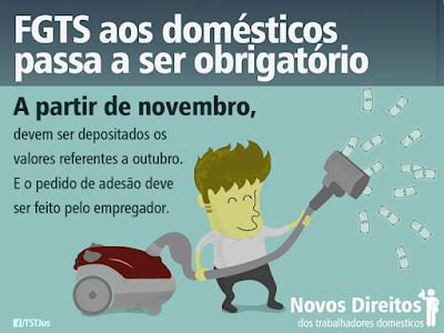 FGTS aos domésticos passa a ser obrigatório