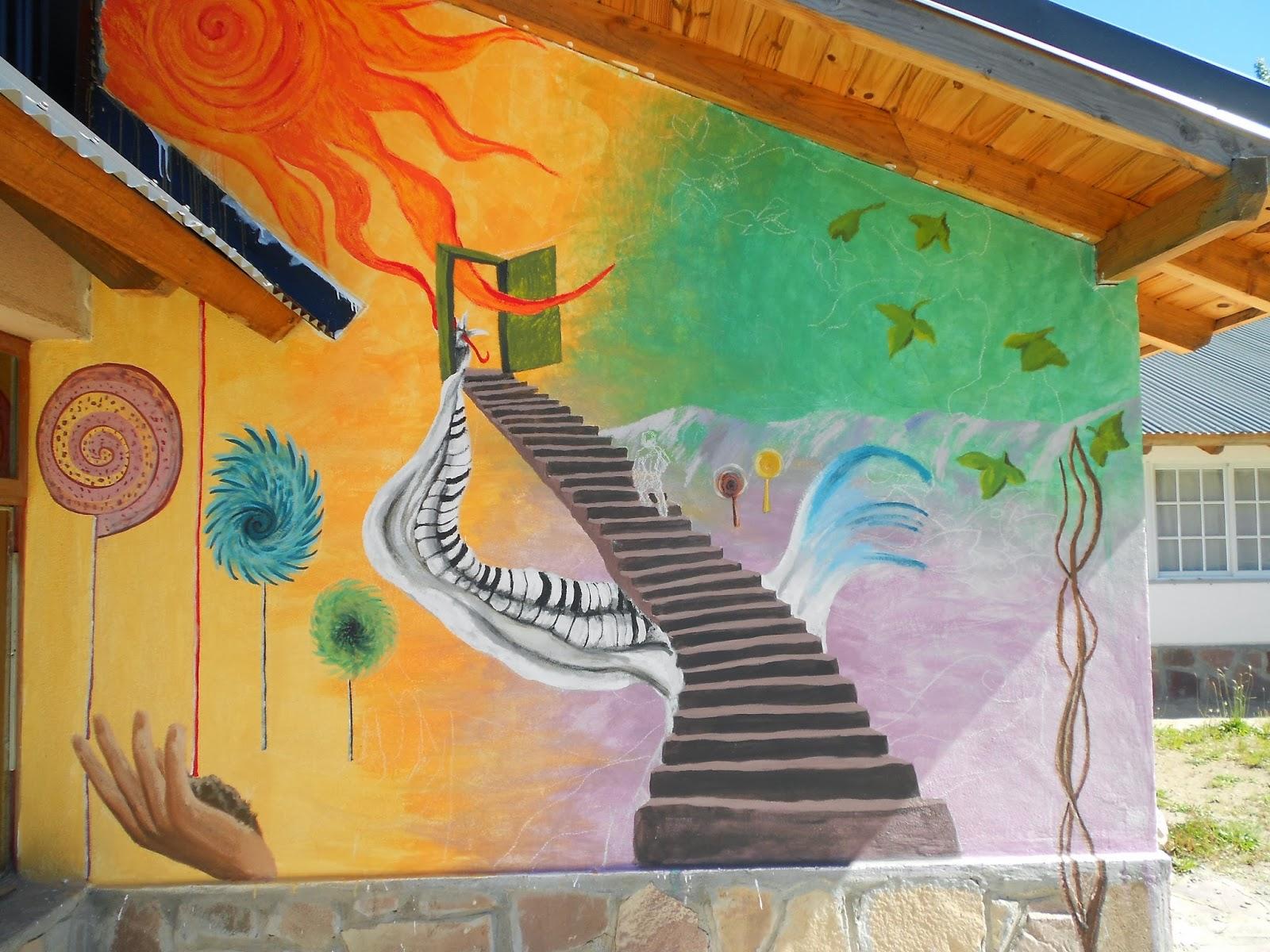 Escuela de arte la llave mural colectivo para la escuela for Arte colectivo mural