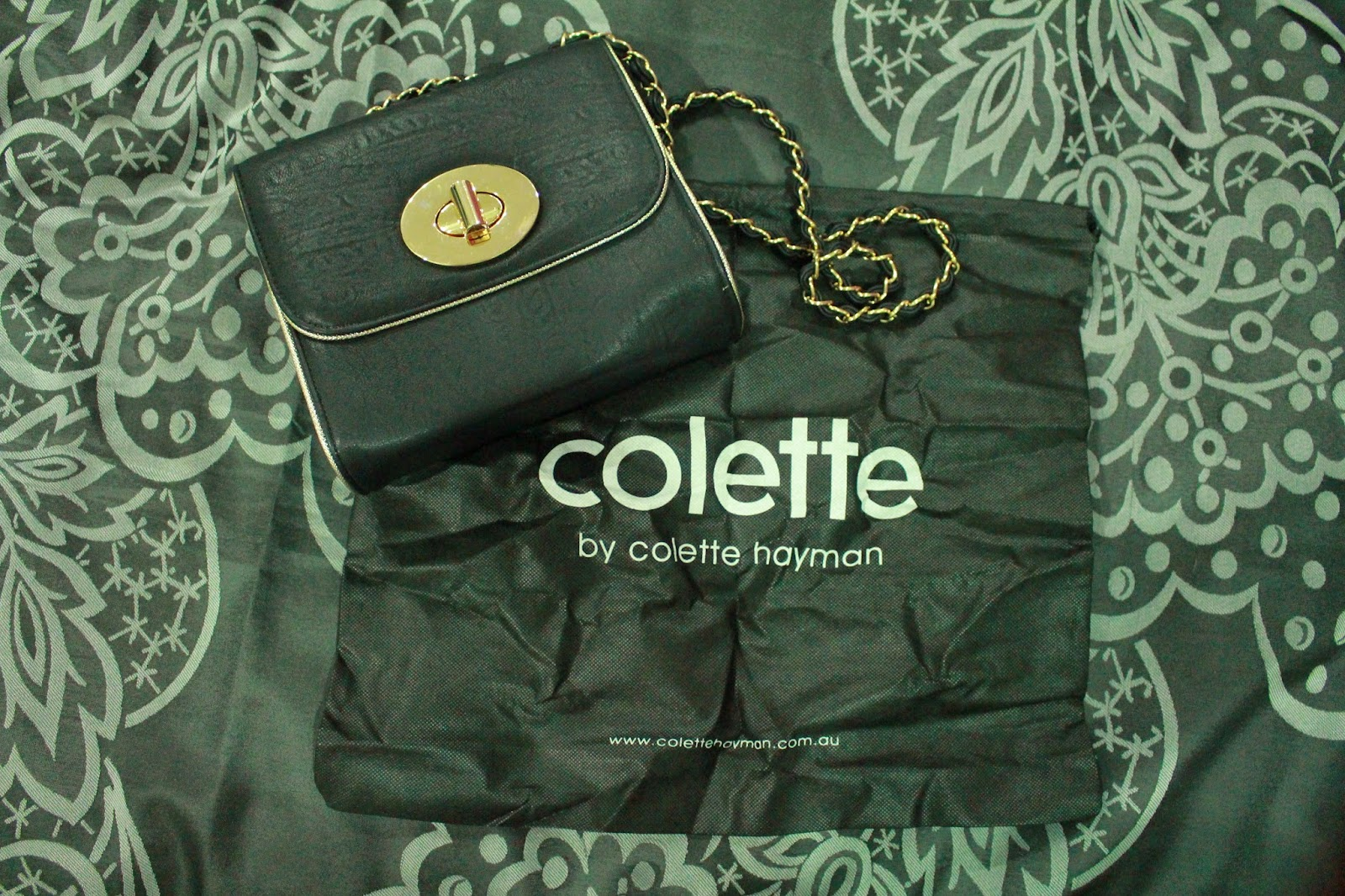 Colette Hayman Belina Piping Turnlock Crossbody Bag