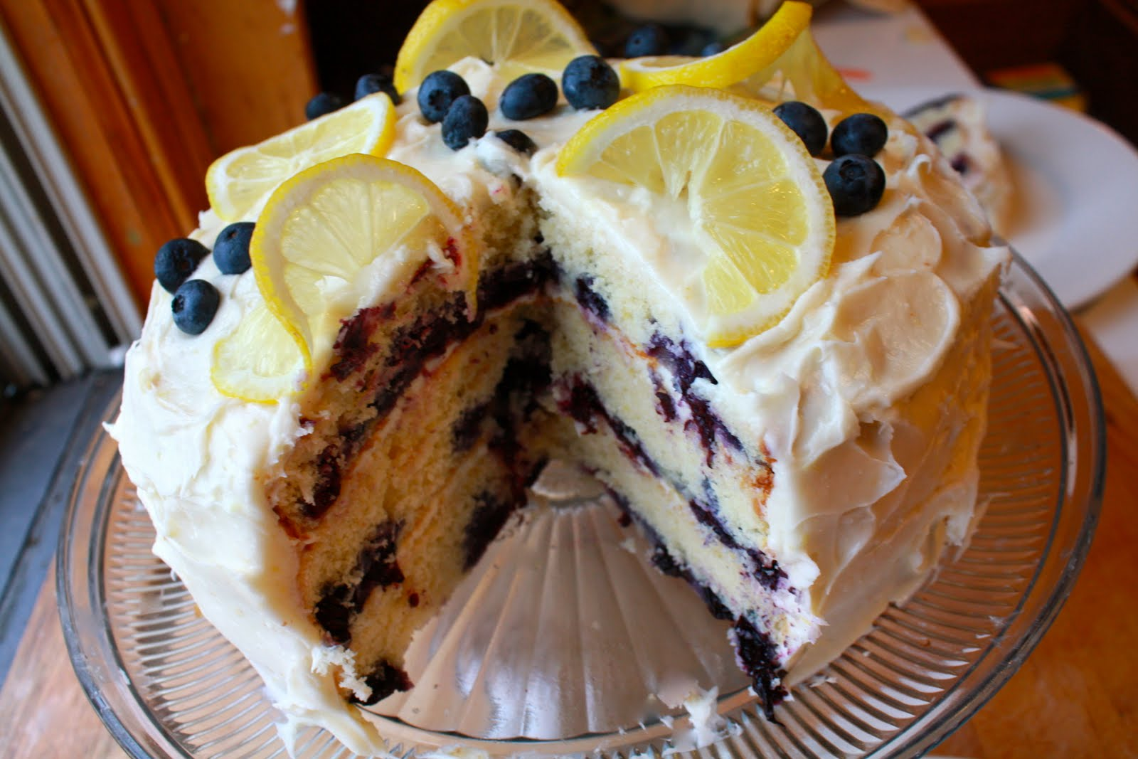 Blueberry lemon cake with lemon cream cheese frosting | Green Your ...