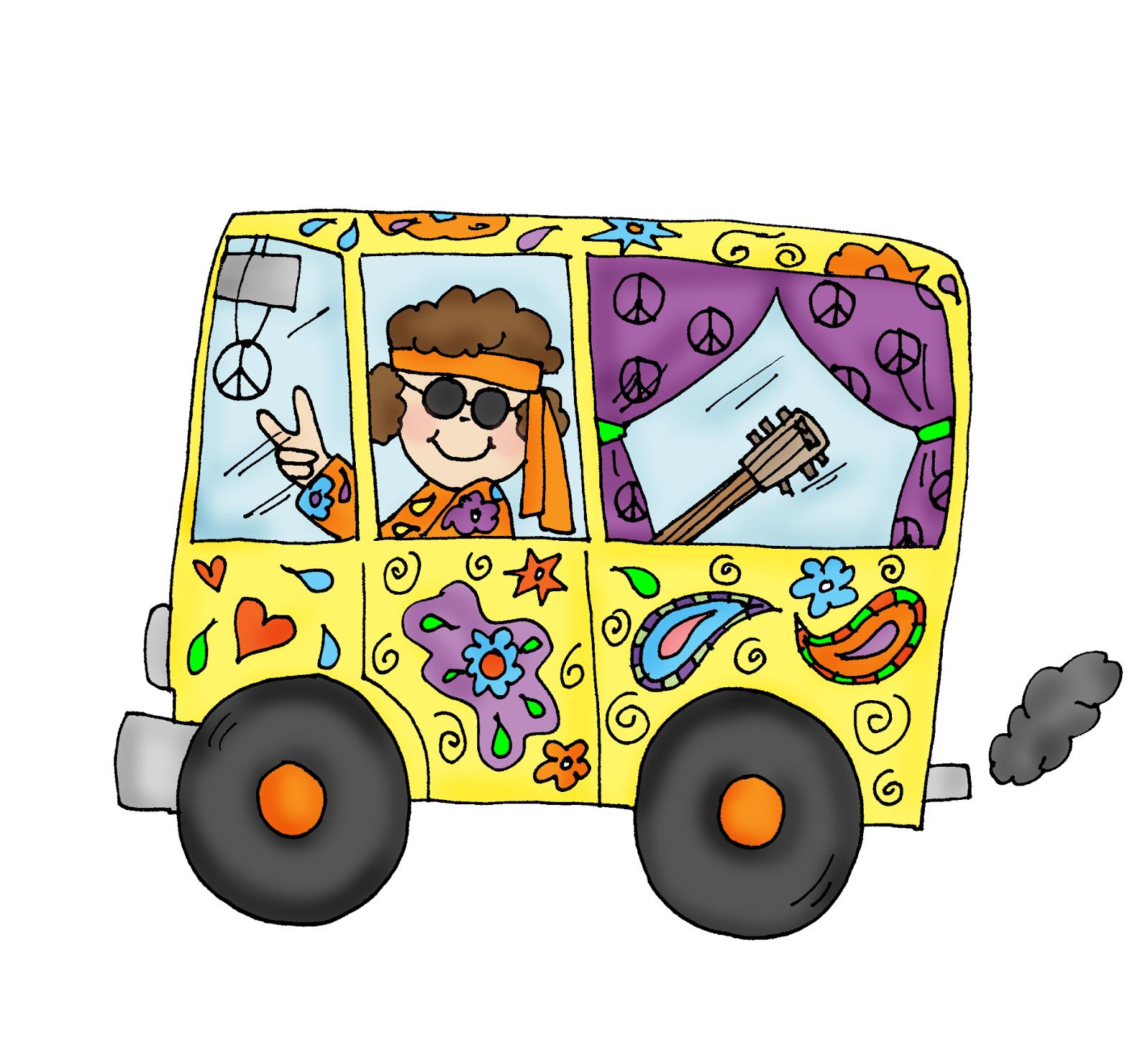 Free Dearie Dolls Digi Stamps Hippie Van