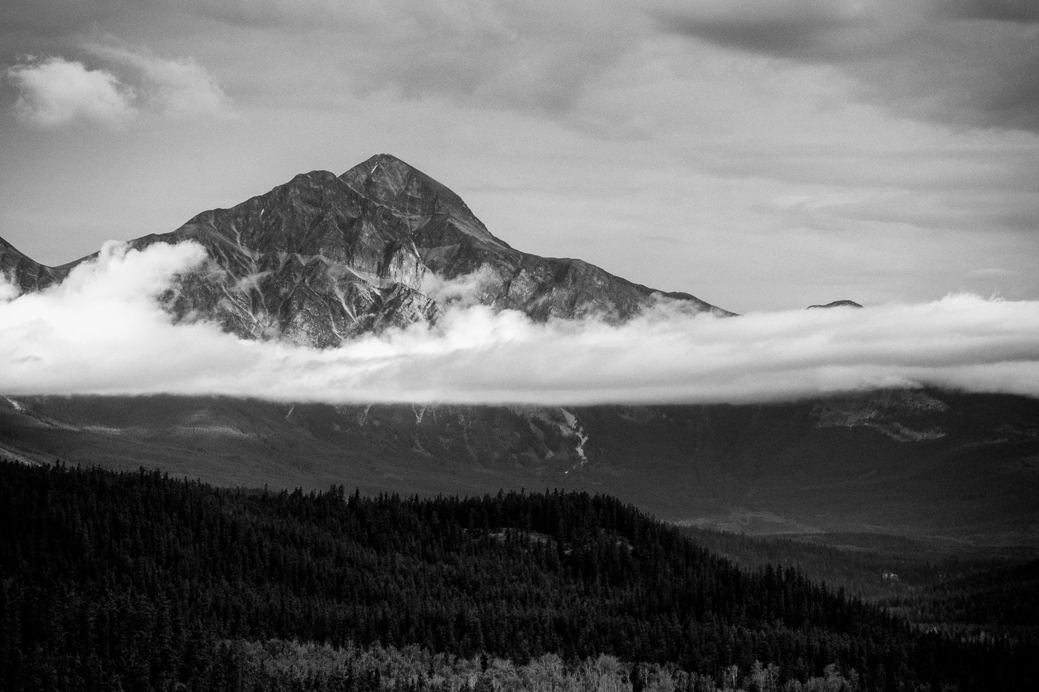 Pyramid Mountain_B & W
