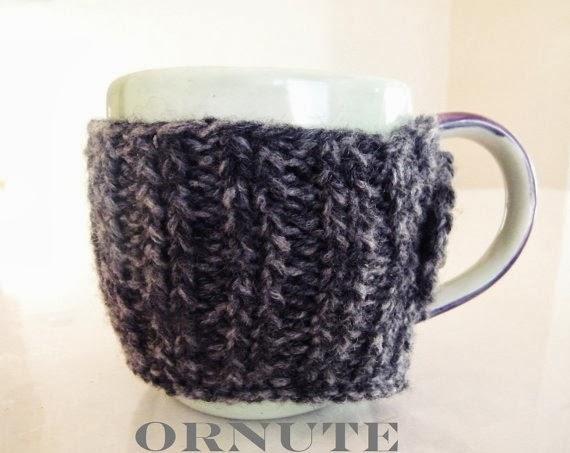 Free Knitted Mug Cozy Pattern : Oh You Crafty Gal: Free Twisted Rib Large Mug Cozy Knitting Pattern with Videos