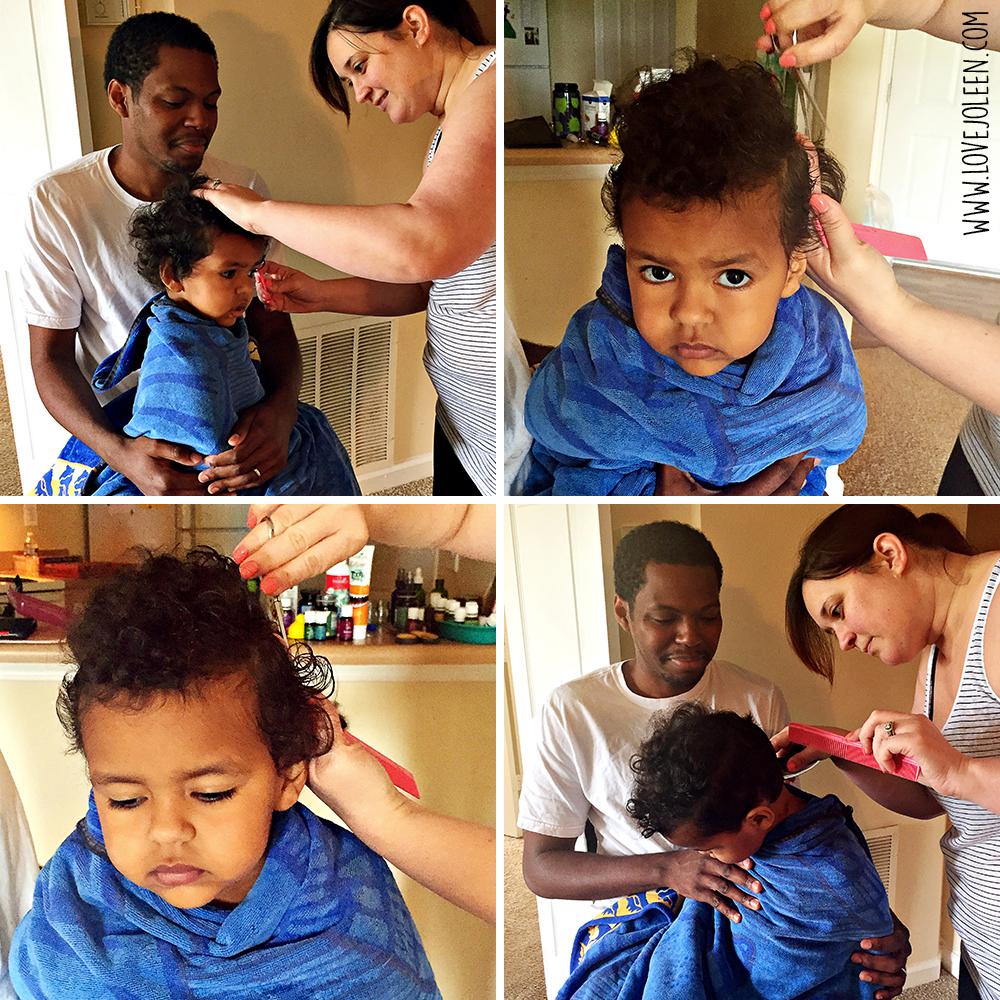Love Joleen Benjamins First Professional Haircut