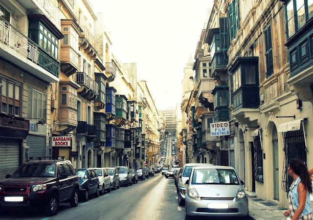 calles y cuestas de malta
