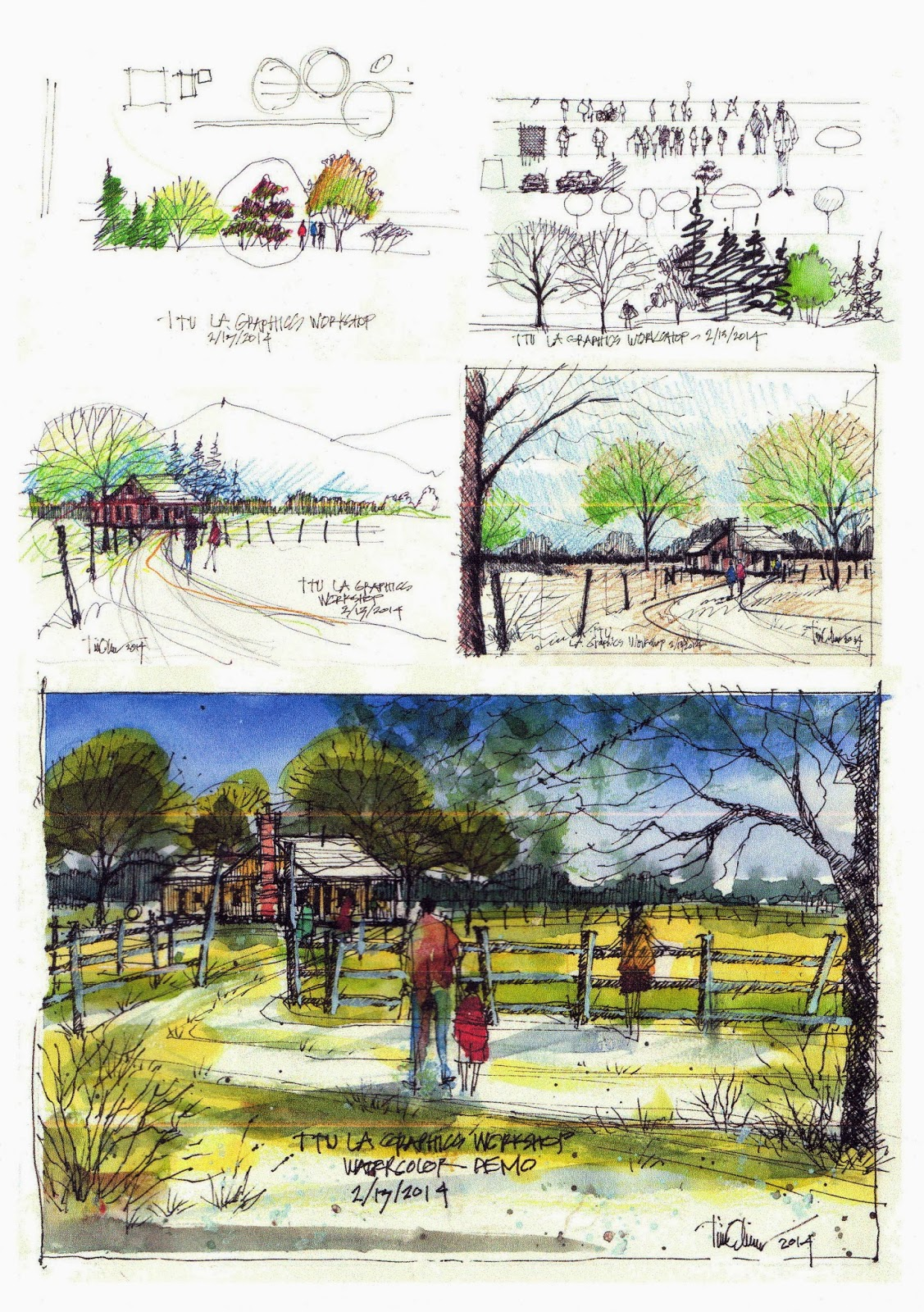 Tim Oliver39s Sketchbook Texas Tech Landscape Architecture