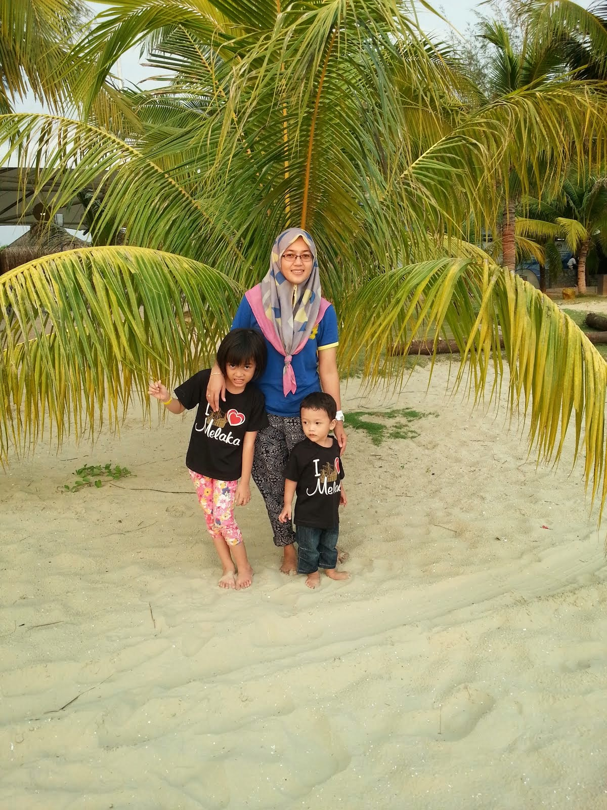 mama with the kids..