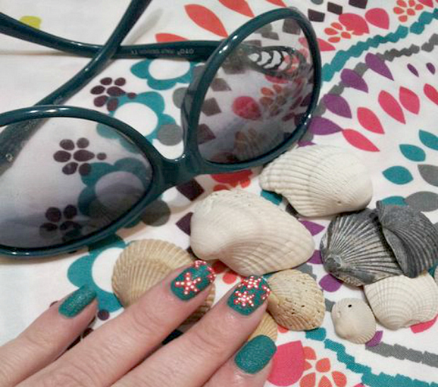 Beach Ready Mani With Sally Hansen #IHeartMyNailArt
