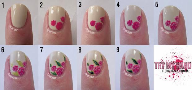 hand tutorial rose floral
