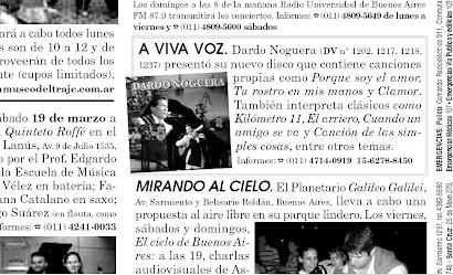"""Dardo Noguera siempre junto a los amigos del """"Diario del Viajero"""""""