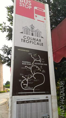Jadual bas dan peta di sekitar Colmar Tropicale