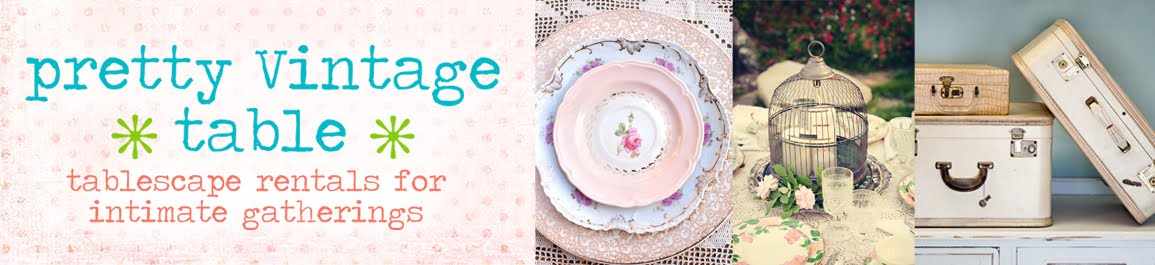 Pretty vintage table vintage dessert plates for Pretty html table