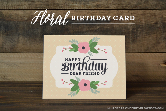 Free Printable Floral Birthday Card Minted Strawberry