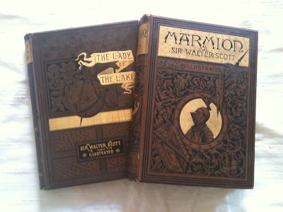 Victorian copies of Sir Walter Scott's Lady of the Lake and Marmion.