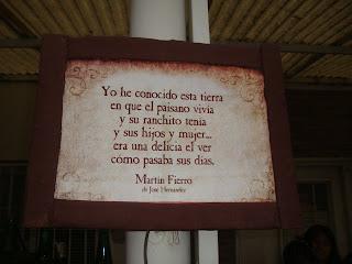 Los versos de Martín Fierro