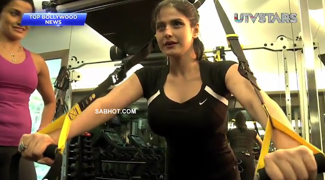 Zarine Khan Gym Working out - Zarine Khan Gym Workout Hot Pics