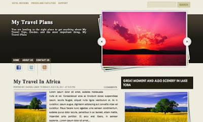 My Travel Plans Blogger Template