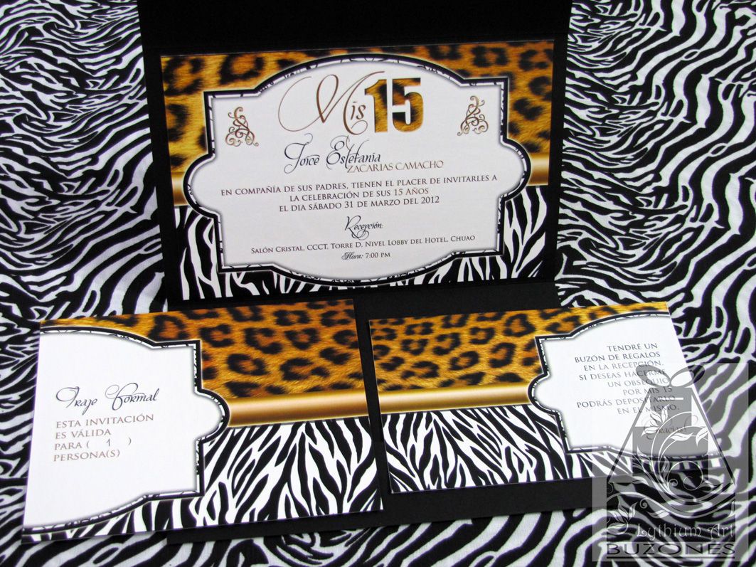 Invitaciones Animal Print | Lythium Art