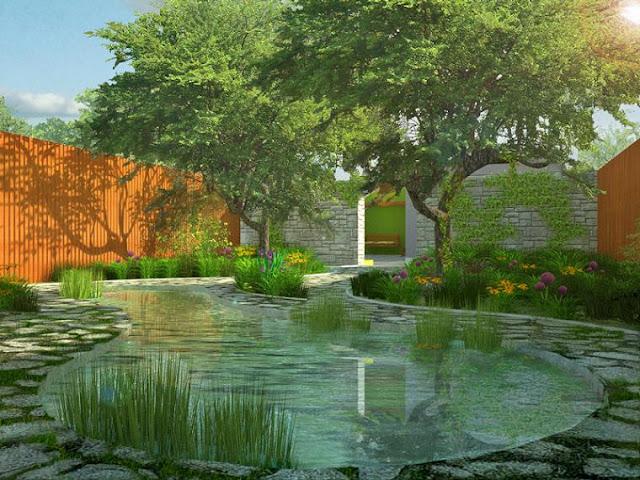 ogród miejski, ogród w miejskim stylu