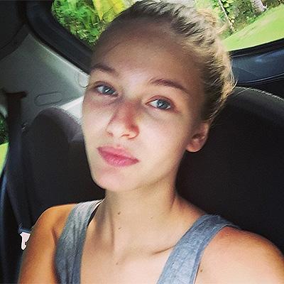 the model Kristina Romanova