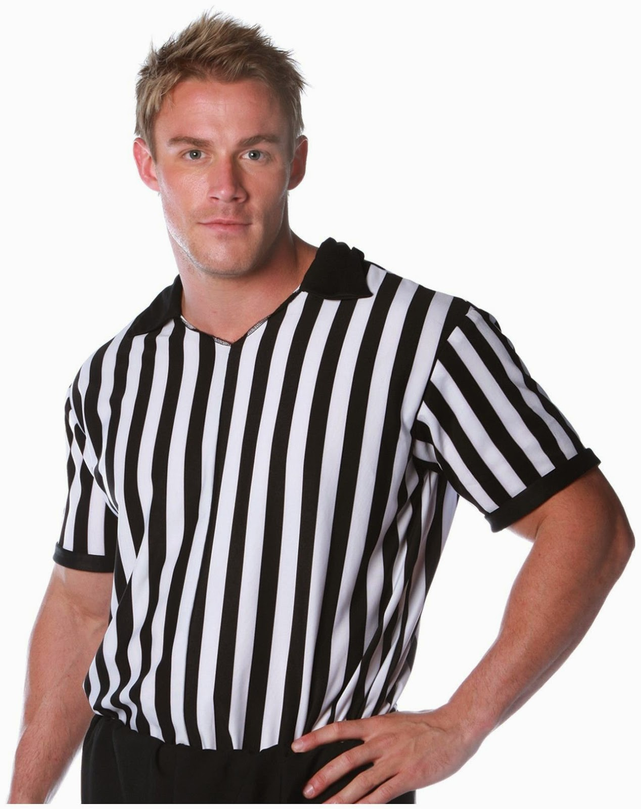 Men's Referee Shirt Adult Costume for Superbowl