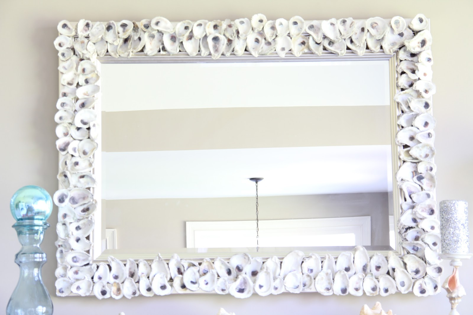 Southern Soul Mates Oyster Shell Mirror Chandelier DIY – Diy Shell Chandelier