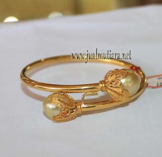 Gelang Emas Mutiara Air Laut Baroq