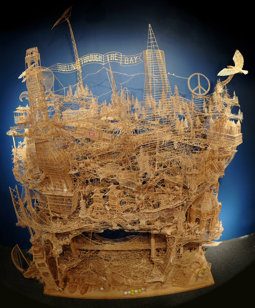 San Francisco Sculpture Made From 100 000 Toothpicks