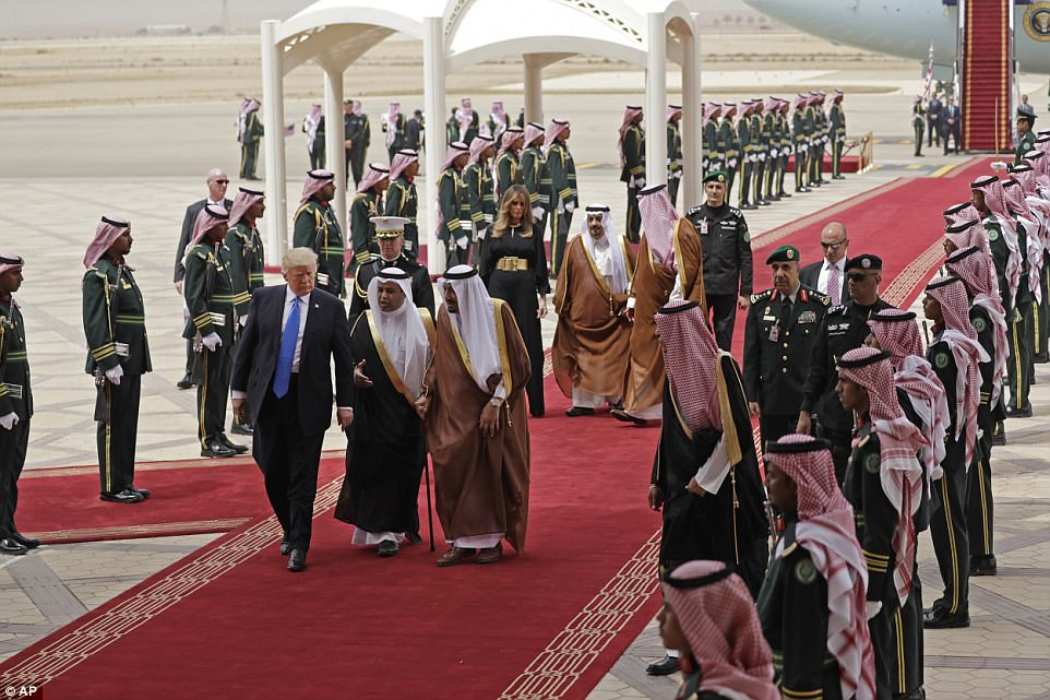 Trump Arrives In Saudi