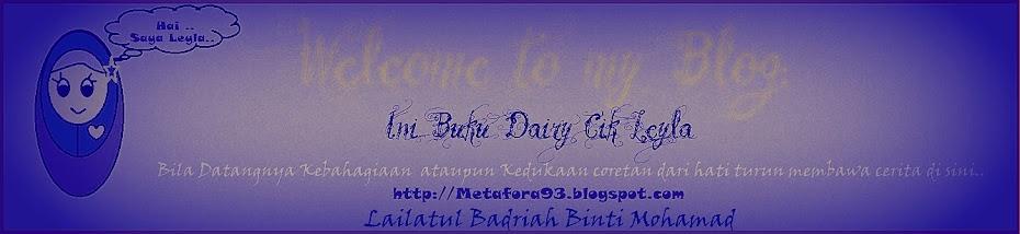 Ini Buku Dairy Cik Leyla..^____^