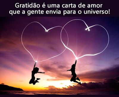 Universo feito de amor e gratidão
