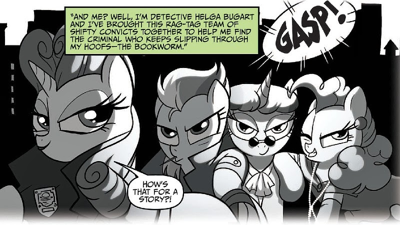 Rarity and the Ponies Noires