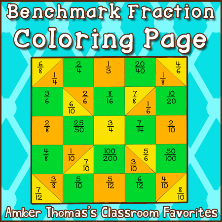 math worksheet : shut the door and teach 5 fraction stations 1 coloring page and  : Benchmark Fractions Worksheet