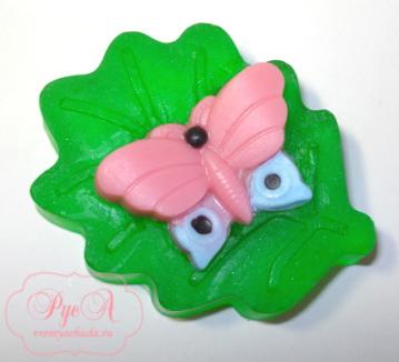 мыло бабочка на листике