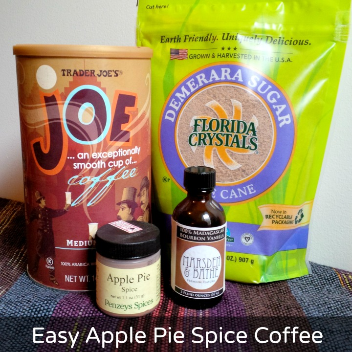 Easy Apple Pie Spice Flavored Coffee homemade diy