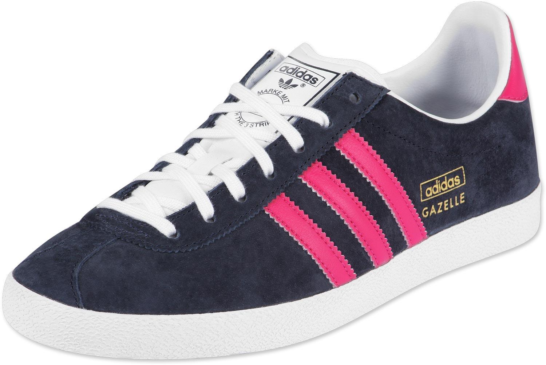 adidas gazelle og w chaussures bleu rose blanc